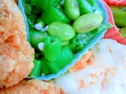 お弁当の後1品に!枝豆とオクラのサラダ