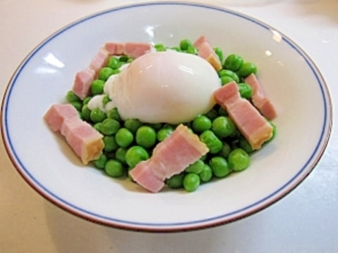軟らか青豆の温サラダ