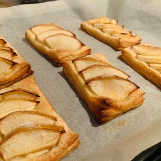 冷凍パイシートでチーズりんごパイ