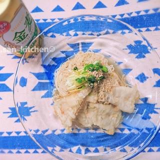 【素麺タレ】レモン汁でさっぱり油そうめん