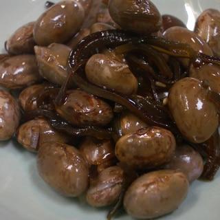 金時豆と昆布の醤油煮