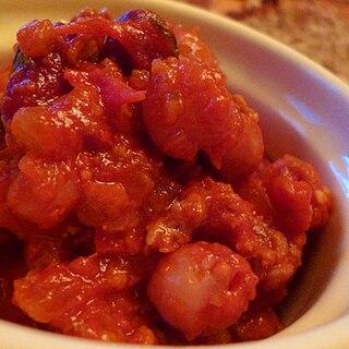 ラム肉とビーンズのトマトソース