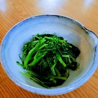 水菜のからしポン酢和え