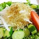 シンプルな大根とじゃこのサラダ