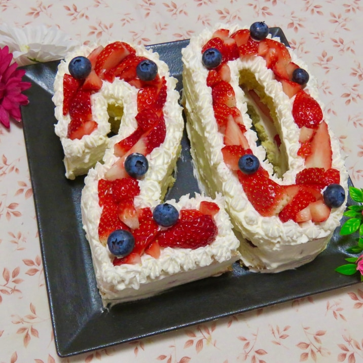 お誕生日に☆ナンバーケーキ(数字ケーキ)