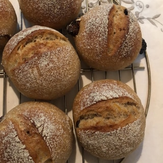 フィグナッツロールパン