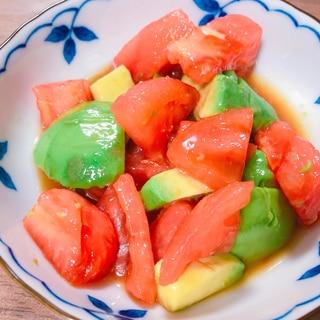 冷やして美味しい!アボカドとトマトのポン酢サラダ
