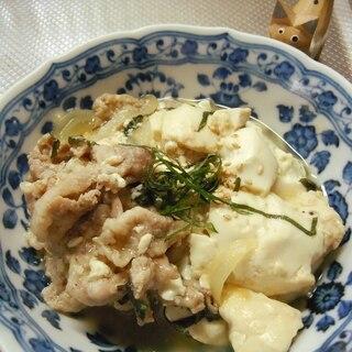 絹ごし豆腐で簡単肉豆腐