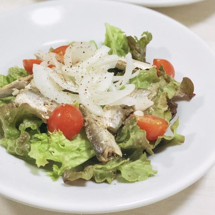新玉ねぎとオイルサーディンのサラダ☆