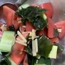 トマトとキュウリと生姜の和え物