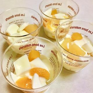 アガーで♪ミルクプリン杏仁豆腐風