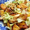 焼肉のタレで❤とうもろこし天の野菜炒め♪(マヨ)