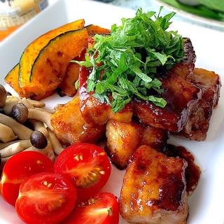 ポン酢ソースで♡豚バラブロックのサイコロステーキ!