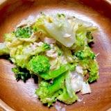 白菜とブロコッリーのツナサラダ