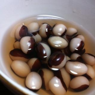 パンダ豆の煮物☆お豆の味を