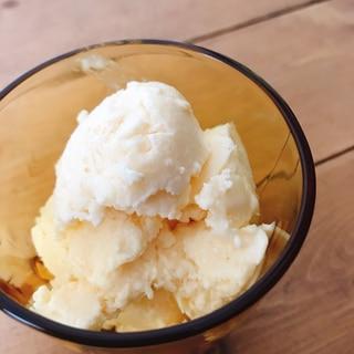 余ったカスタードでアイスクリーム