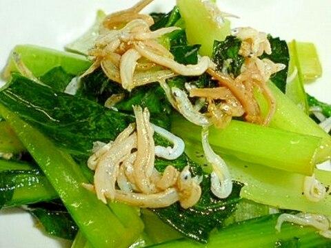 小松菜としらすの簡単和風炒め(煮浸し)♪