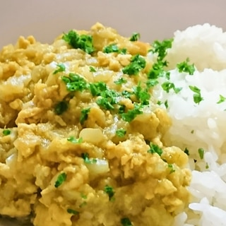 茄子がトロトロ(^_^) 茄子と鶏ひき肉のカレー