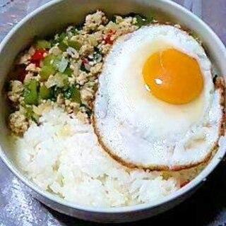 ちょっと本格派? タイ風鶏肉のバジル炒めご飯