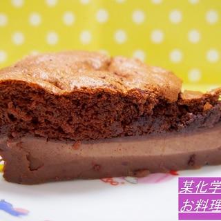 簡単・不思議・美味しい!3層のマジックチョコケーキ