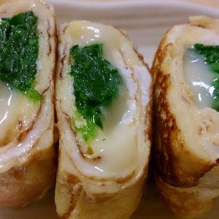 ほうれん草&チーズ入り卵焼き~お弁当に~