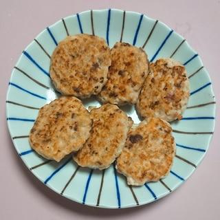 【離乳食】レバーと鶏挽肉の鉄分バーグ
