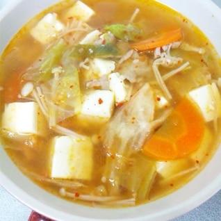 具だくさんチゲ風スープ