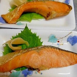 シンプルにトースターで☆鮭の塩焼き☆