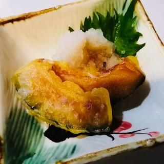 油少なめ⭐焼き揚げカボチャの天ぷら
