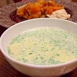 余ったイタリアンパセリと豆乳で簡単スープ