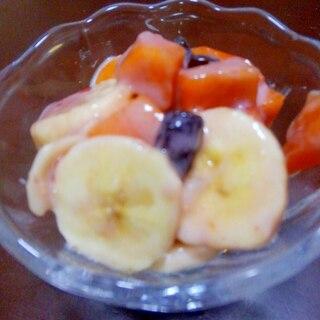 ジャムとヨーグルトで簡単フルーツ和え