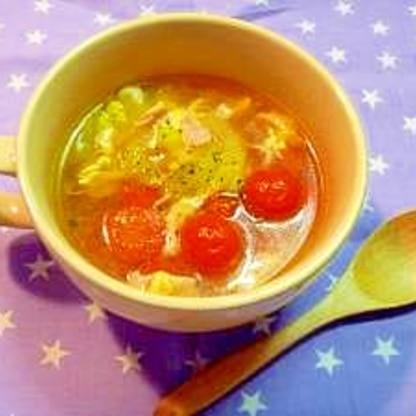 ミニトマトとセロリで簡単スープ☆