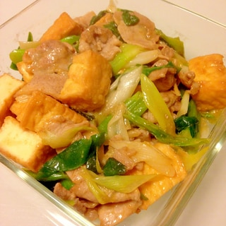 ♡ご飯が進む 厚揚げ 白ネギ 豚肉 味噌炒め♡