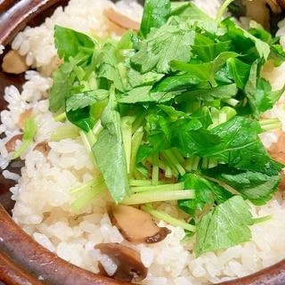 一合土鍋炊き!松茸ごはん