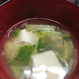 離乳食 ナスと白菜と豆腐のお吸い物