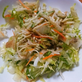 ごまドレッシングで野菜サラダ