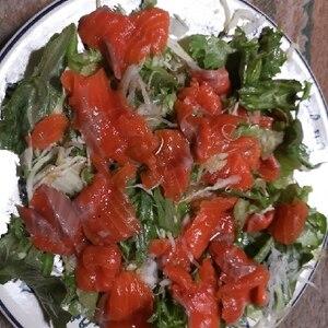 わさびの風味香るホタテのカルパッチョ