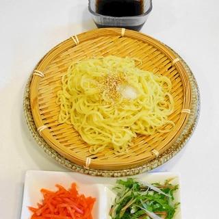 潔く薬味のみ~麺そのものを楽しむ!冷やし中華つけ麺