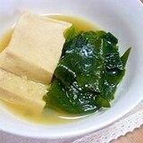 高野豆腐とわかめの煮物