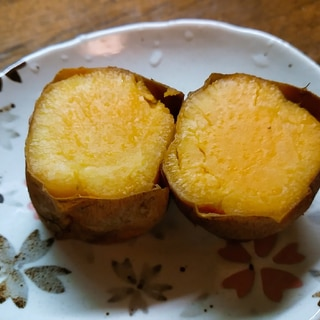 オーブンの低温でしっとり焼き芋
