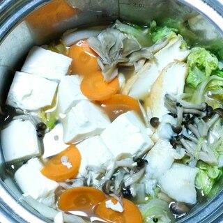 カレイときのこの水炊き鍋