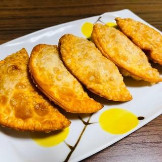 餃子の皮で♪ツナとポテトとチーズのサモサ