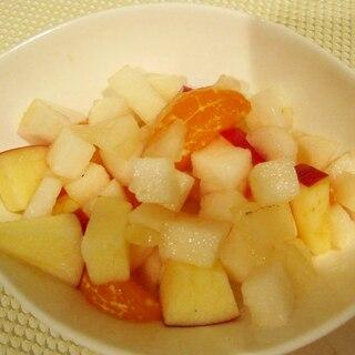 冬瓜とフルーツのサラダ