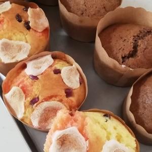 HMで♪マシュマロ&クラッシュチョコのカップケーキ