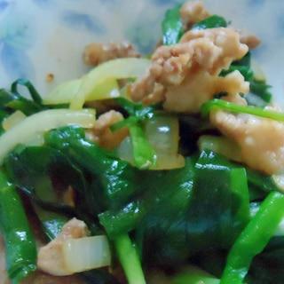 のびると新玉ねぎの野菜炒め
