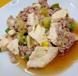 豚ひき肉と木綿豆腐のレンジ蒸し