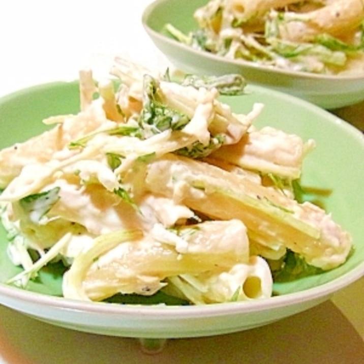 水菜とツナのマカロニサラダ