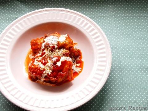 トマト煮込みのとろりんロールキャベツ
