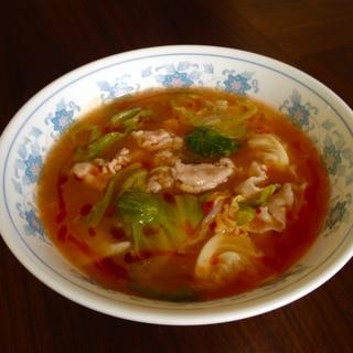 コンニャク麺で★ヘルシー酸辣湯麺風ラーメン★