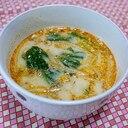 サバ缶豆乳スープ